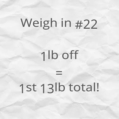 Slimming World weigh in #22 - the one where I don't quite make it...