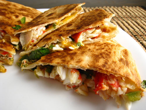 Spinach and Cheese Quesadillas... A Mexican' Treat.. !!