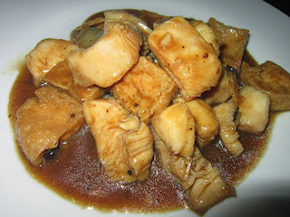 CHICKEN FILLET and TOFU in OYSTER and BLACK BEAN SAUCE