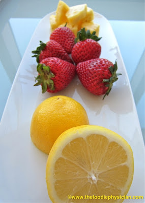 Guest Blogger - The Foodie Physician's Sonali Ruder - Strawberry Pineapple Lemonade