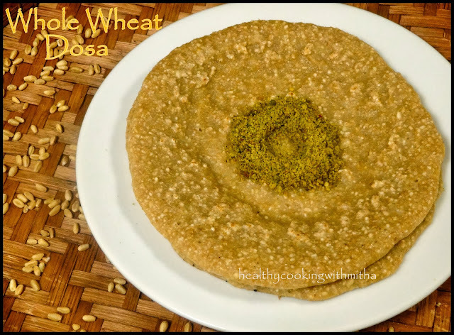 wheat dosa chutney