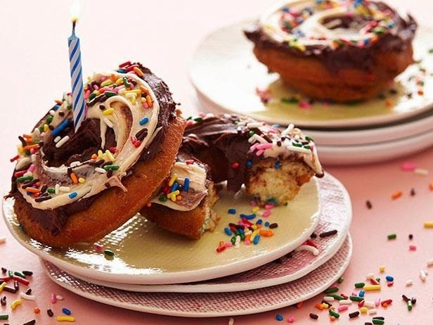 Birthday Cake Doughnut