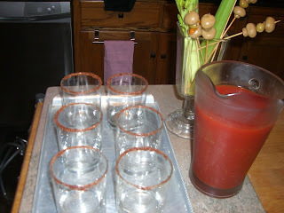 Bloody Mary Mix . . . make ahead and it's ready for a party!