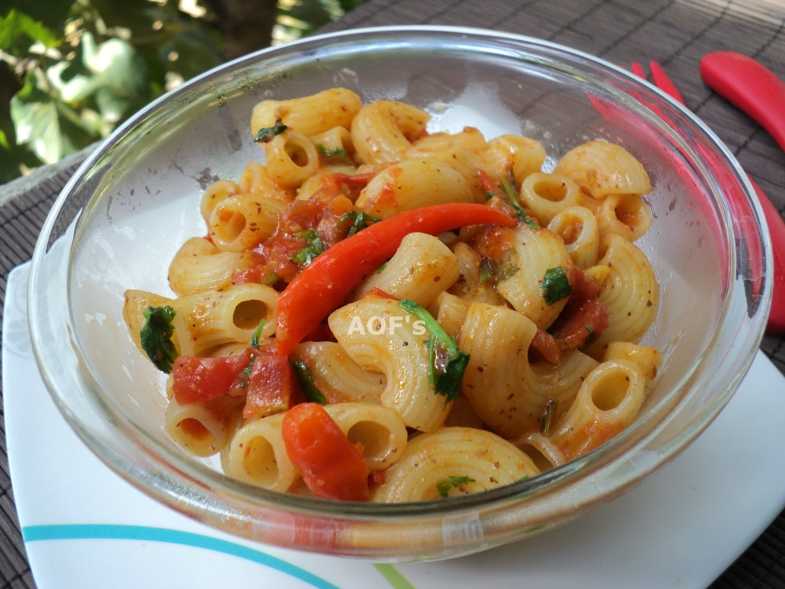 Pasta with Kasundi Sauce (Low-calorie snacking !!)