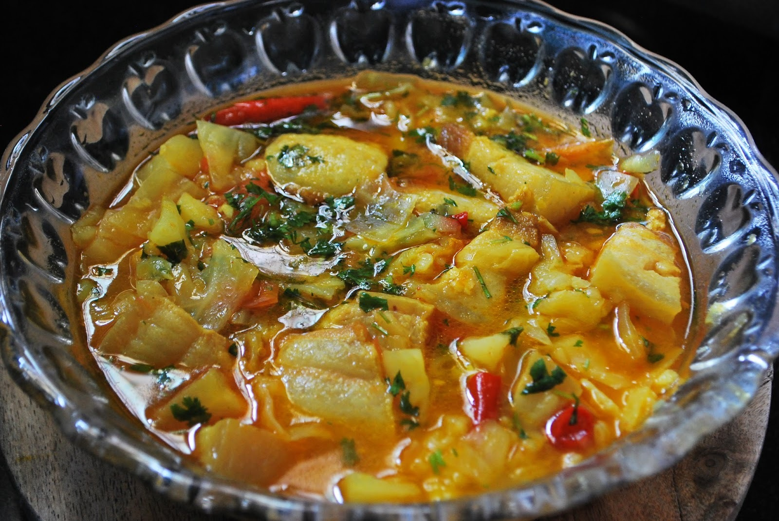 Cabbage Curry using rendered Pork Fat - Rongmei Naga Curryl!!