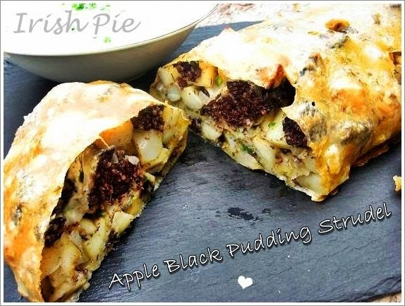 Apple black pudding strudel / Apfel-Blutwurst Strudel