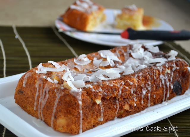 Eggless Lemon Coconut Bread
