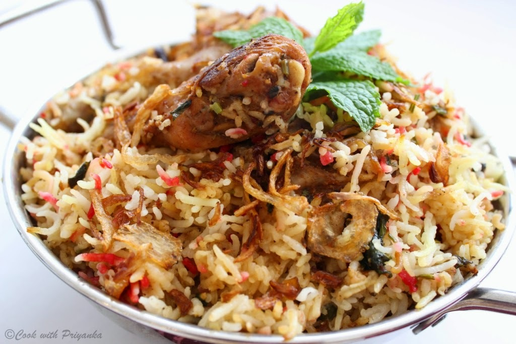 Hyderabadi Chicken Biryani : Kacchi Murg Biryani