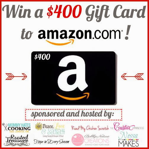 $400 Amazon Gift Card Holiday Giveaway!!