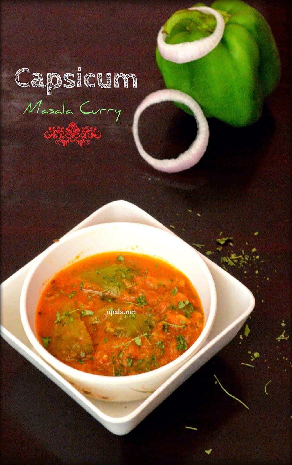 Capsicum Masala Curry (North Indian Style)