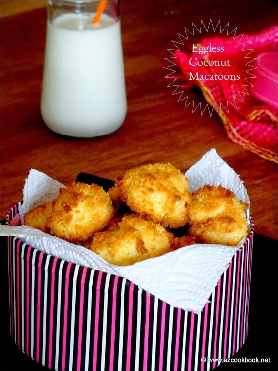 Eggless Coconut Macaroons Recipes | How To Make The Best Coconut Macaroons Using Condensed Milk