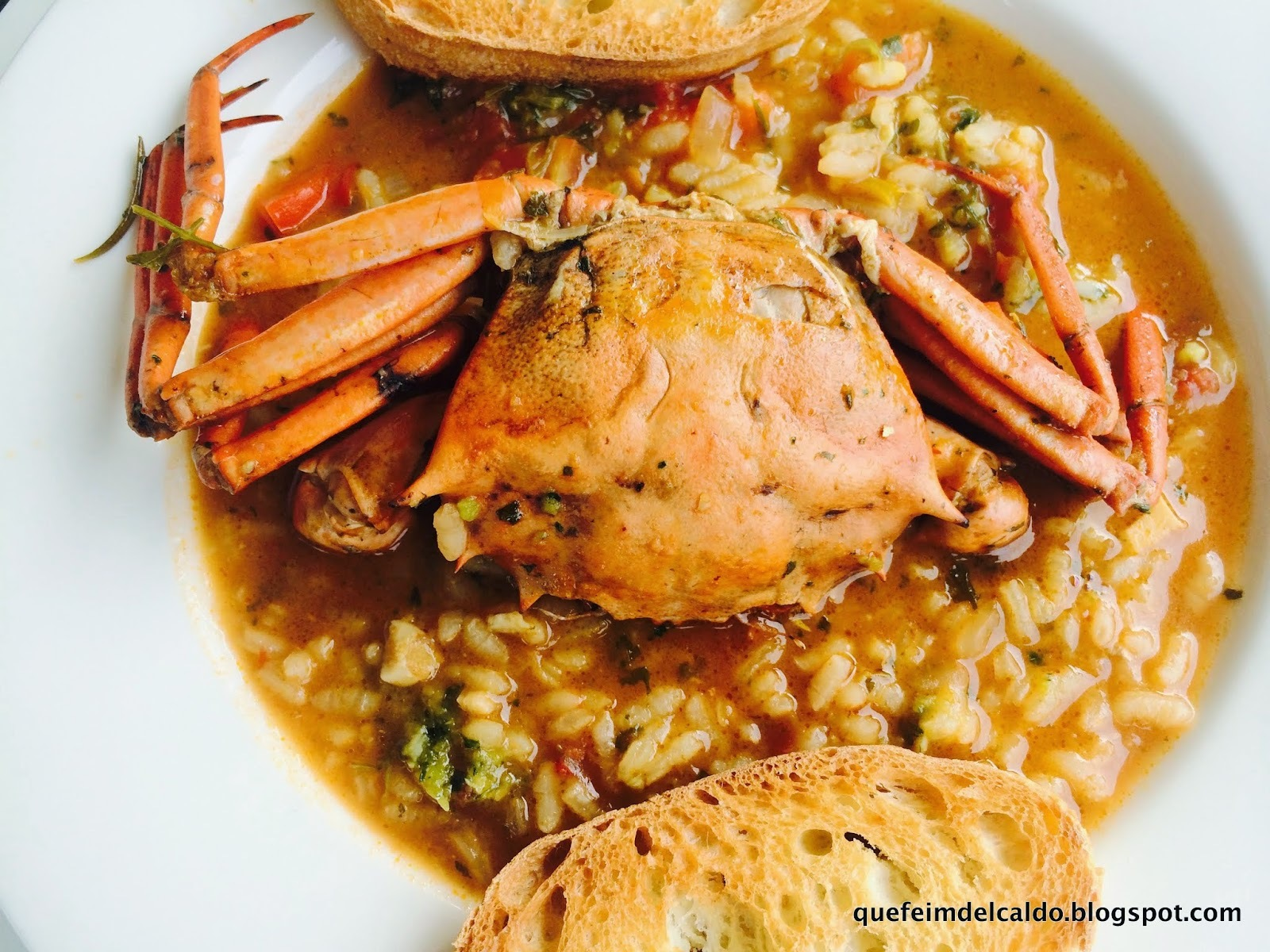 ARROZ CALDOSO DE CANGREJOS. VIDEO-RECETA.