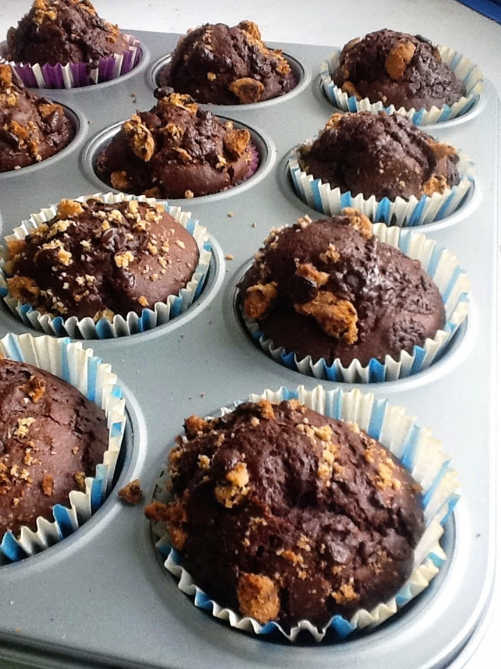 Muffins de Chocolate con Galletas Chips Ahoy!