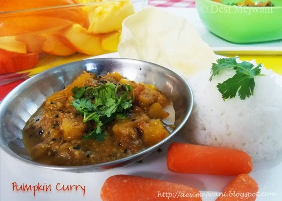 Pumpkin Curry in 5 Minutes - Rajasthani Style