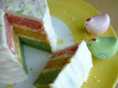 Easter Colours Rainbow Cake