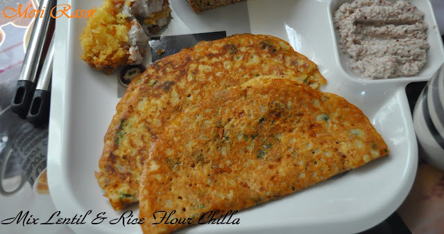 Mix Lentil & Rice Flour Chilla