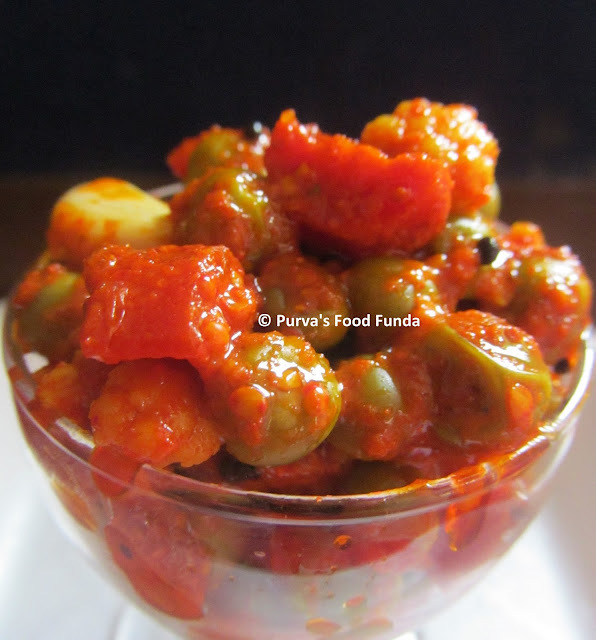Mix Vegetable Pickle / Bhajyanche Lonche