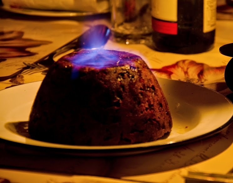 Easy vegan gluten free Christmas pudding