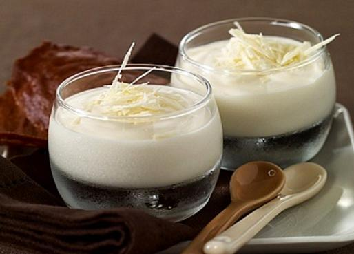 Mousse de chocolate blanco casero