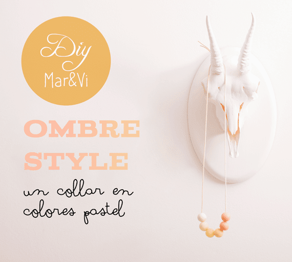DIY: un collar en colores pastel