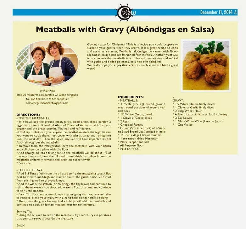 MEATBALLS WITH GRAVY (ALBONDIGAS EN SALSA) #englisrecipes