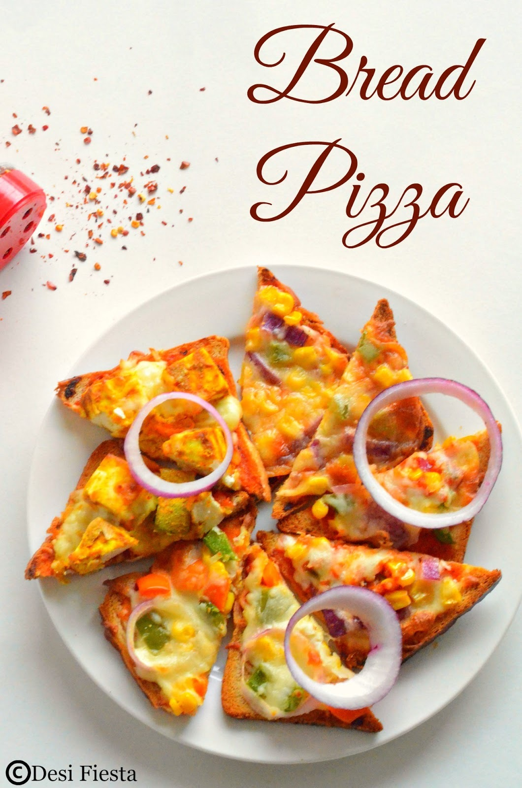 Bread Pizza Recipe |Instant Pizza|Quick Pizza - Kids Friendly Snack