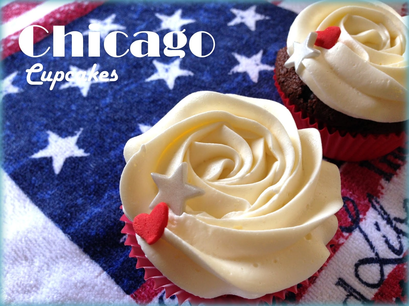 Chicago Cupcakes de Chocolate con Buttercream de Sirope de Arce. Cooking in America.
