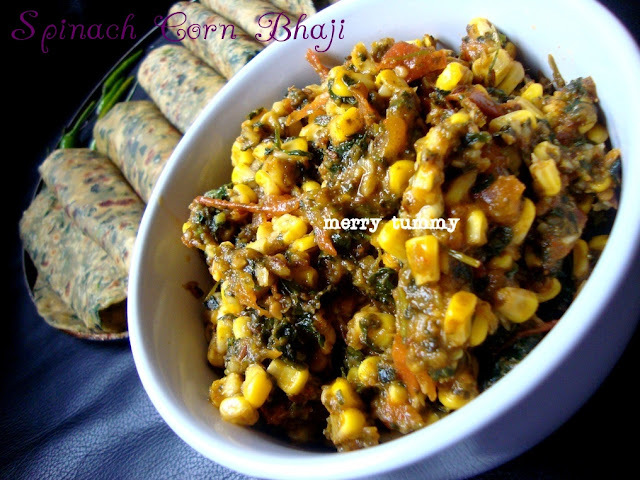 Spinach Corn Bhaji- Version II