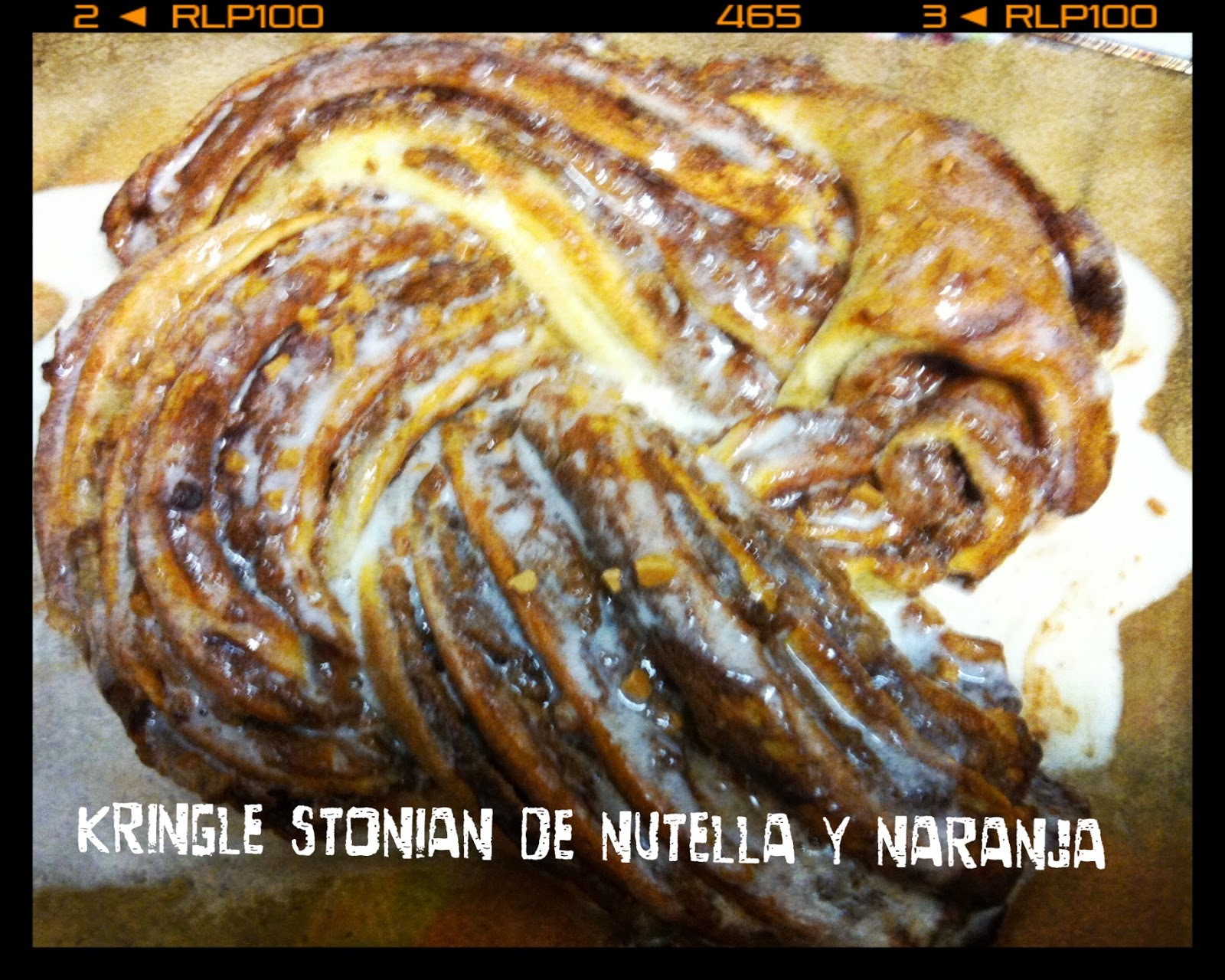 KRINGLE DE NUTELLA Y NARANJA