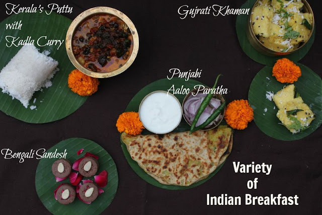 Indian Breakfast across regions
