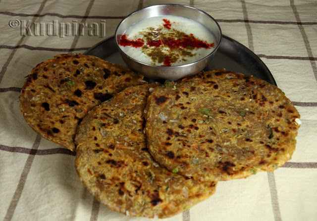 Three Flour Mixed Veg Parathas
