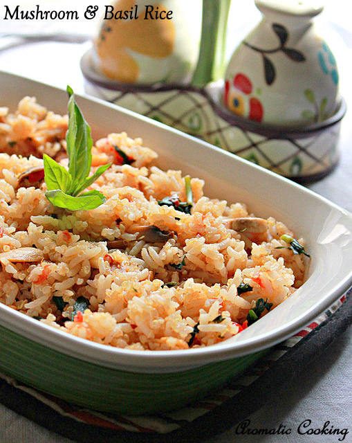 Mushroom And Basil Rice