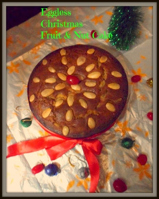 Eggless & Butterless Christmas Fruit Cake