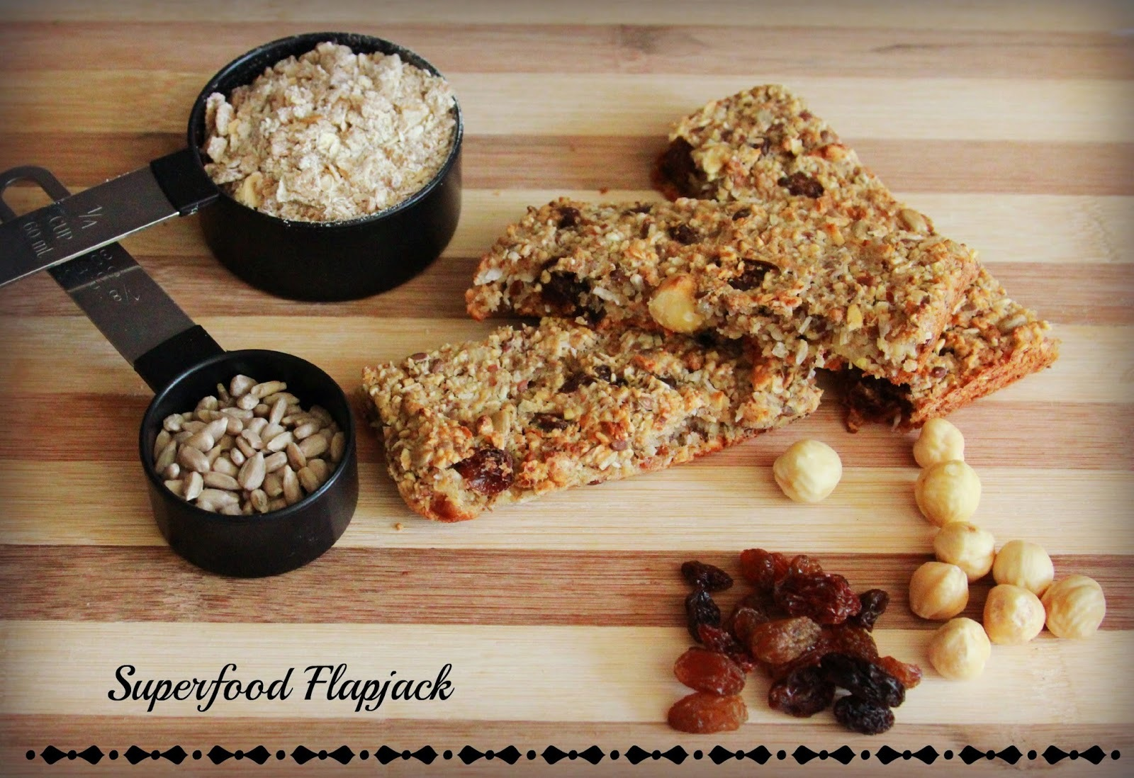 Superfood Flapjack (Free from sugar&diary)