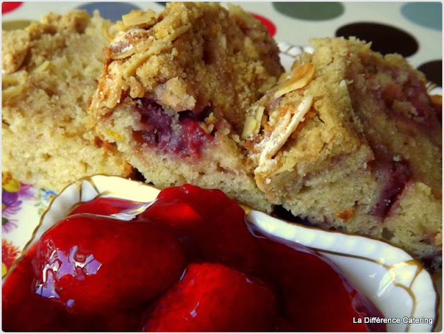 Strawberry & Almond Cake with quick Strawberry Jam