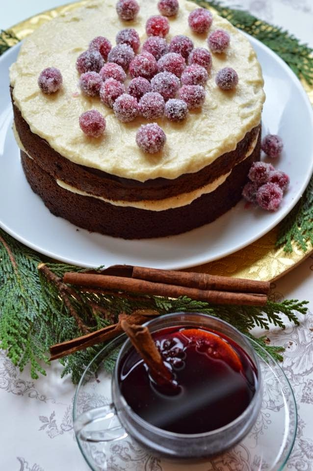 Chocolate Gingerbread - an non fruit-cake Christmas cake alternative - RECIPE