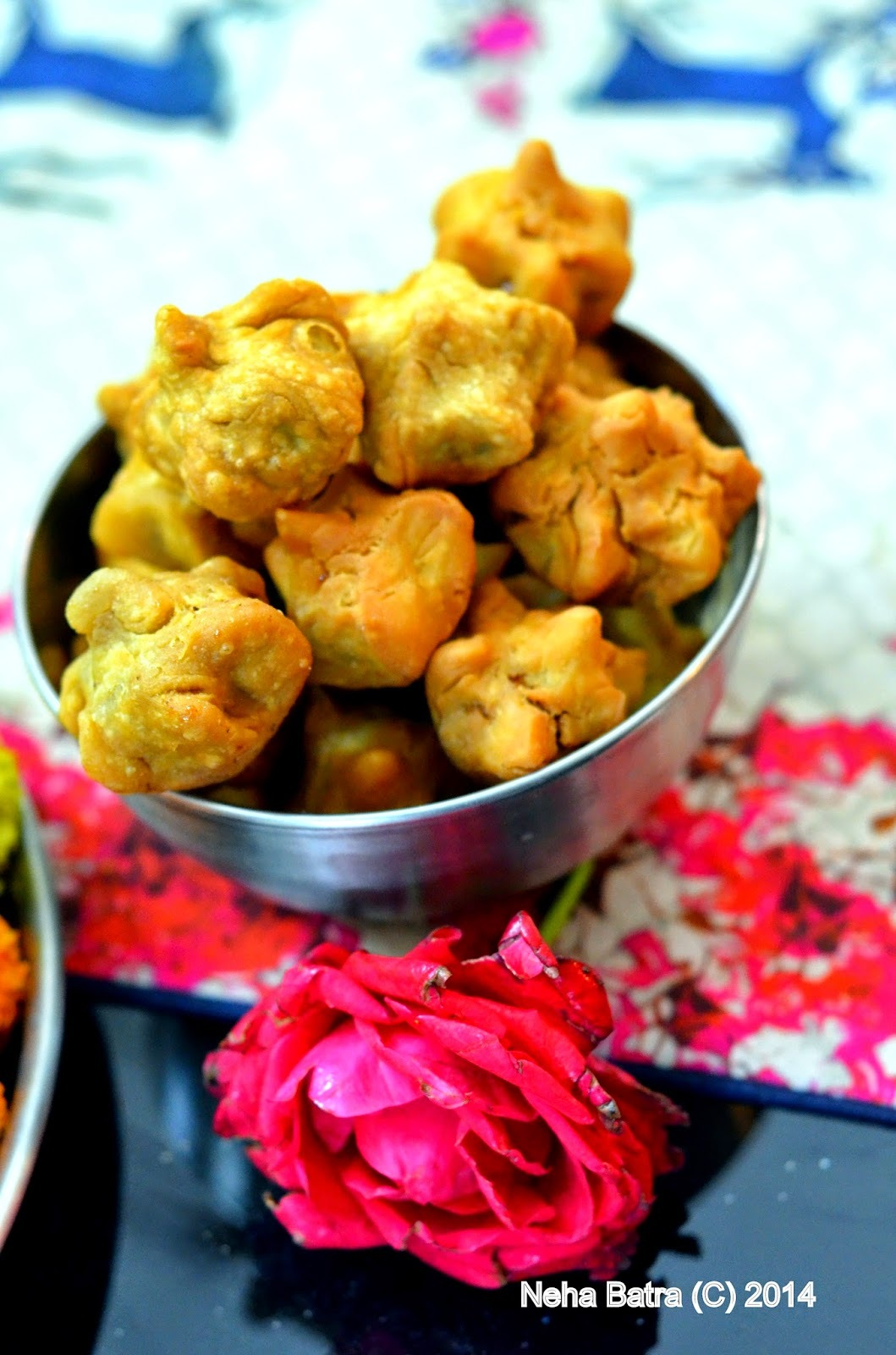 Fried Modak (Fried SWEET Dumplings)