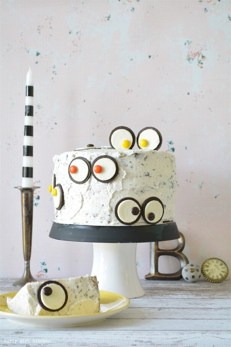 Cookies and Cream Monster Eyes Cake