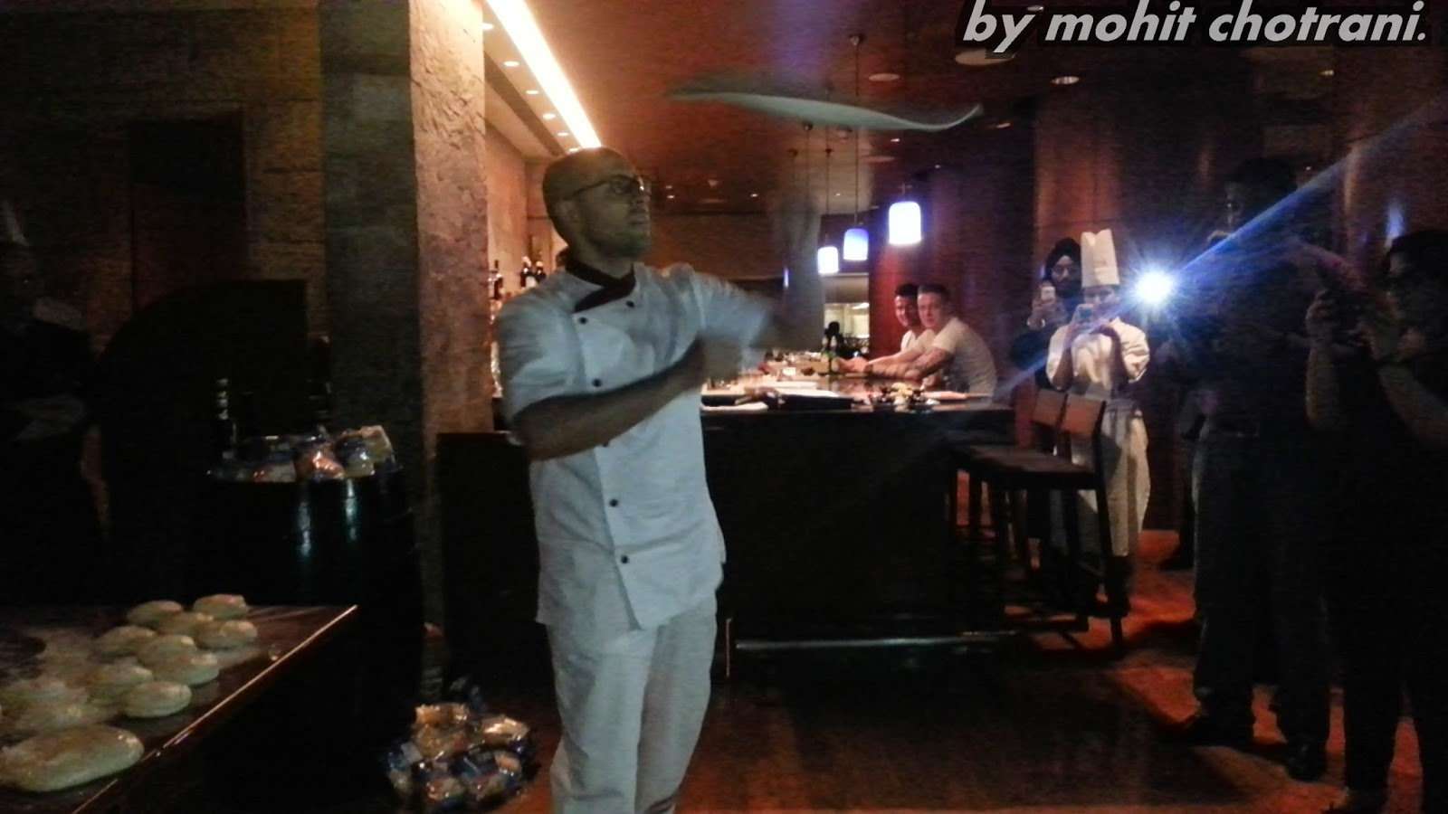 Some Chit Chat, Gup Shup and Pizza Dough Juggling with Chef Pasqualino Barbasso at J W Marriot.