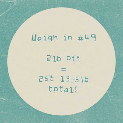 Slimming World weigh in #49 - the one where I'm on it...