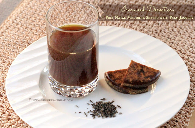 Kaljiryaso Kasai (Herbal Kashayam / Decoction of Ironweed Seeds) ~ Mangalorea Post Natal Recipe # 1