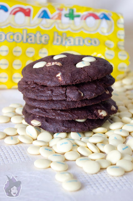Brownie cookies con Lacasitos White