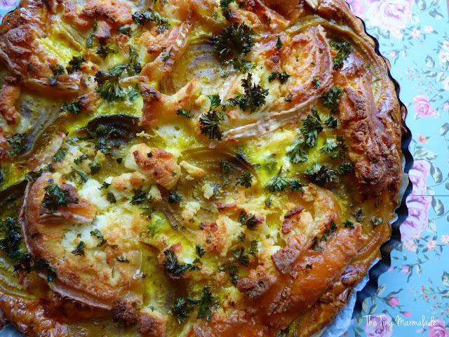 Yellow Beetroot & Goats Cheese Quiche