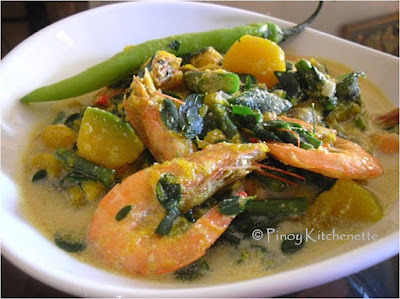 Ginataang Gulay at Hipon (Vegetables and Shrimps in Coconut Milk)