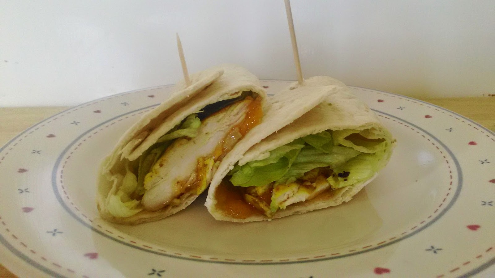 Curried Chicken and Mango Wraps