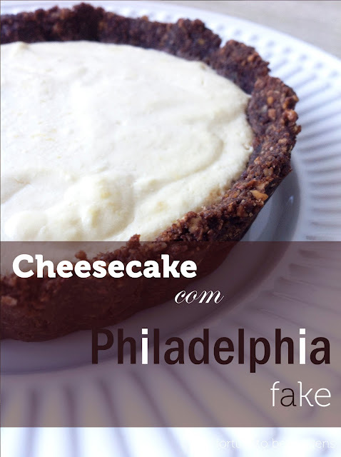 Cheesecake com Philadelphia fake