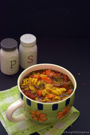 Moroccoan Vegetable Pasta Soup