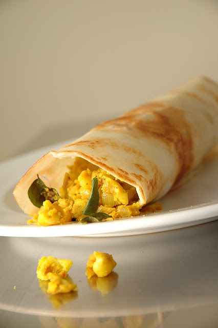 Masala Dosa - South Indian Crispy Rice Pancake