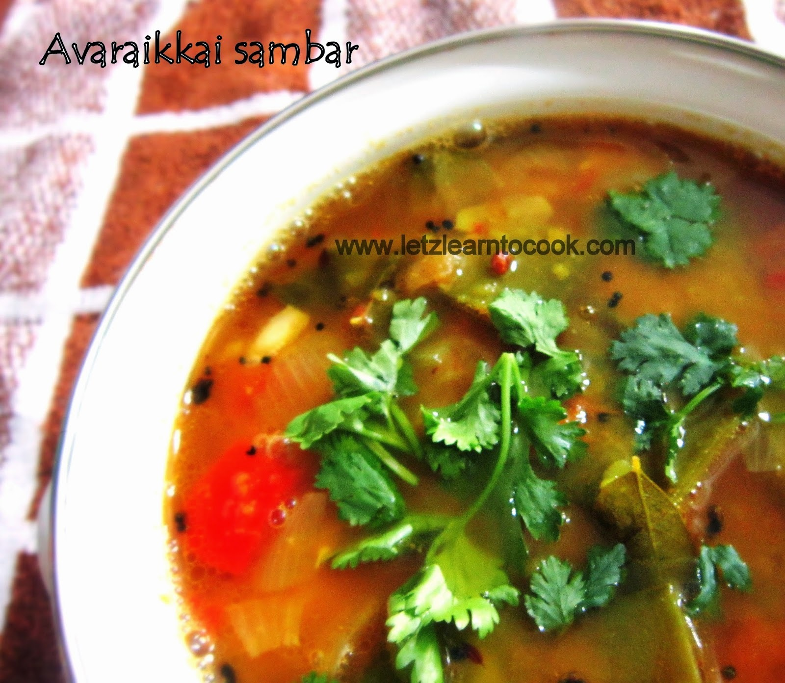 Broad Beans Sambar/Avaraikkai Sambar(Pressure Cooking Method)
