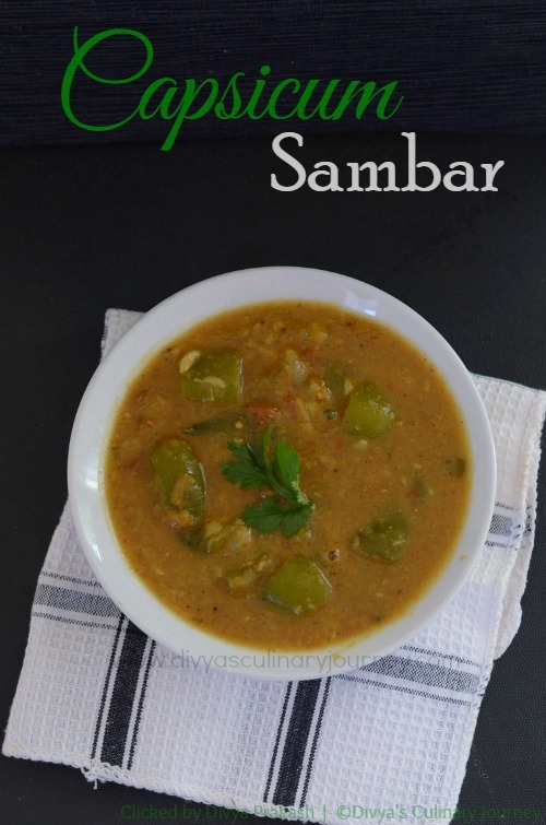 Capsicum Sambar | Easy Sambar recipe using Capsicum | Kudamilagai Sambar